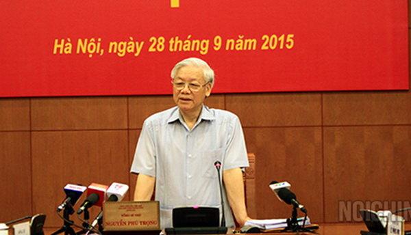 Tổng Bí thư Nguyễn Phú Trọng chủ trì phiên họp thứ 8 Ban Chỉ đạo Trung ương về phòng chống tham nhũng