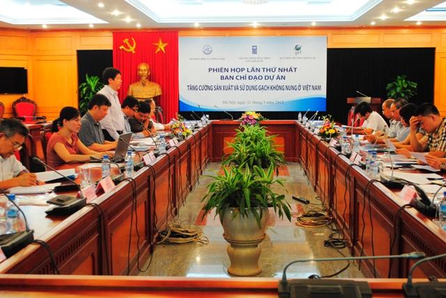 """Phiên họp lần thứ nhất Ban Chỉ đạo Dự án 'Tăng cường sản xuất và sử dụng gạch không nung ở Việt Nam"""""""