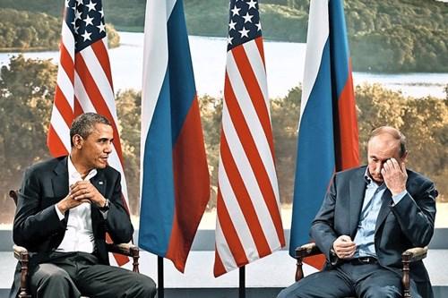 Tổng thống Mỹ Obama và Tổng thống Nga Putin tại hội nghị G8 ở Bắc Ireland năm 2013