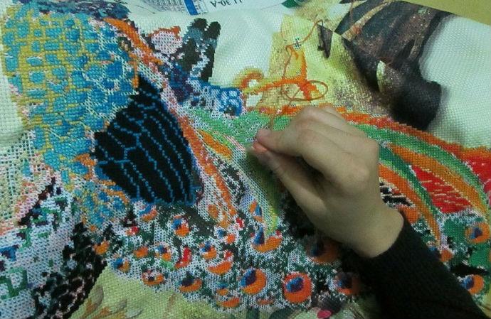 Tranh thêu có độc tố từ thuốc nhuộm vải