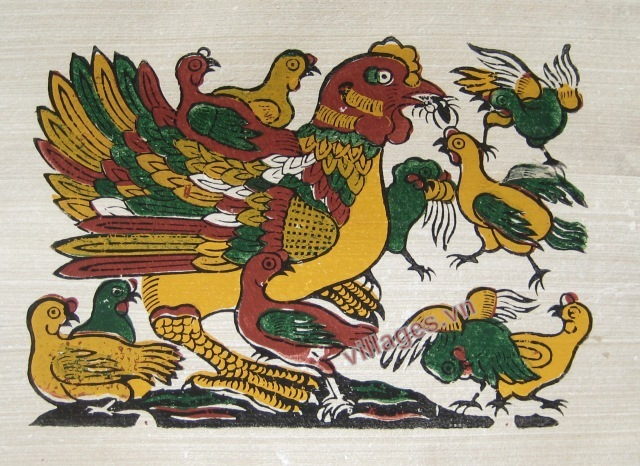 hình tượng gà trong tranh dân gian đông hồ