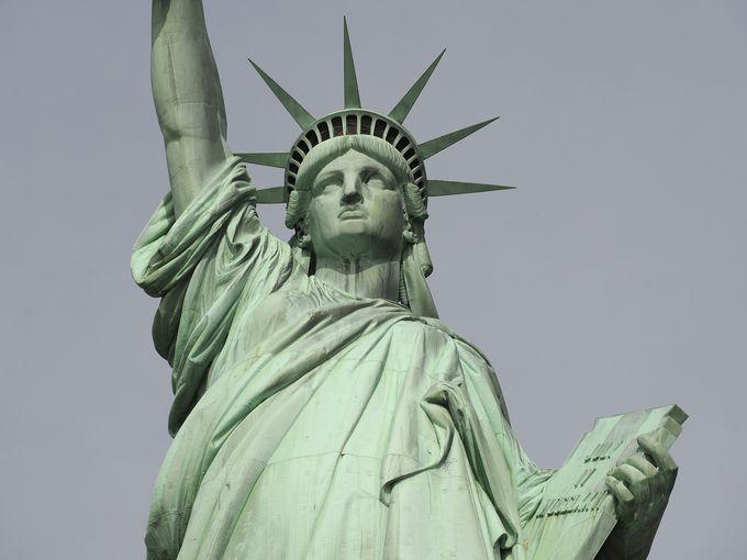 Tượng Nữ thần Tự do ngày 12/10/2009 ở thành phố New York