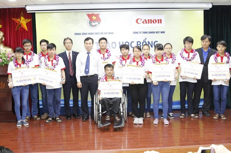 Trong giai đoạn 2014 - 2020, Trung ương Đoàn TNCS Hồ Chí Minh và Công ty TNHH Canon Việt Nam sẽ trao 240 học bổng trị giá gần 5 tỷ đồng