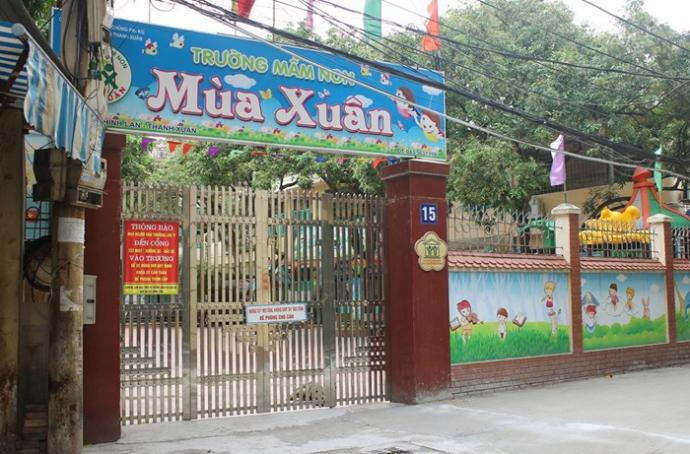 giải thể hai trường mầm non ở Thanh Xuân