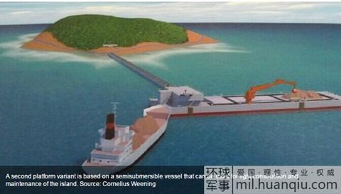 Hoàn Cầu thời báo, Kế hoạch thâm độc của Trung Quốc, trường sa, ụ tàu đa năng, biển đông, ụ tàu