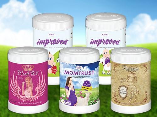 Sản phẩm sữa dê GmB dành cho trẻ em, phụ nữ và người cao tuổi