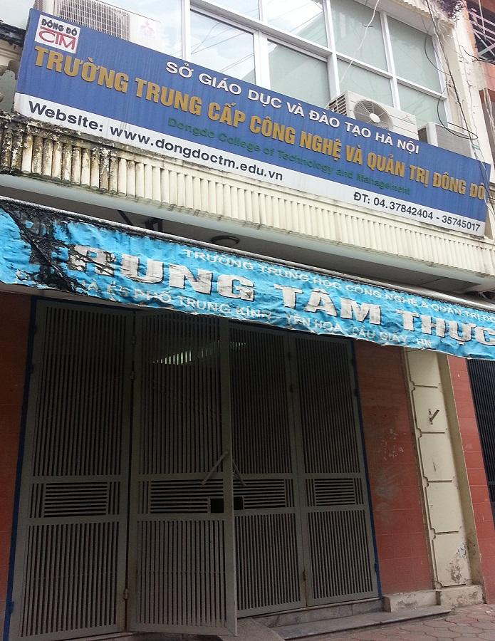 Một cơ sở của trường TC Đông Đô ở phố Trung Kính