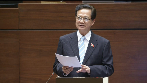 Thủ tướng Nguyễn Tấn Dũng trả lời chất vấn