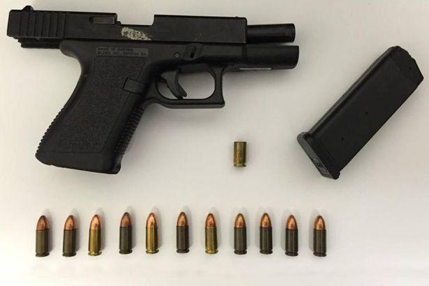 Khẩu súng lục Glock được tìm thấy tại hiện trường nơi vụ 'tai nạn hy hữu' xảy ra