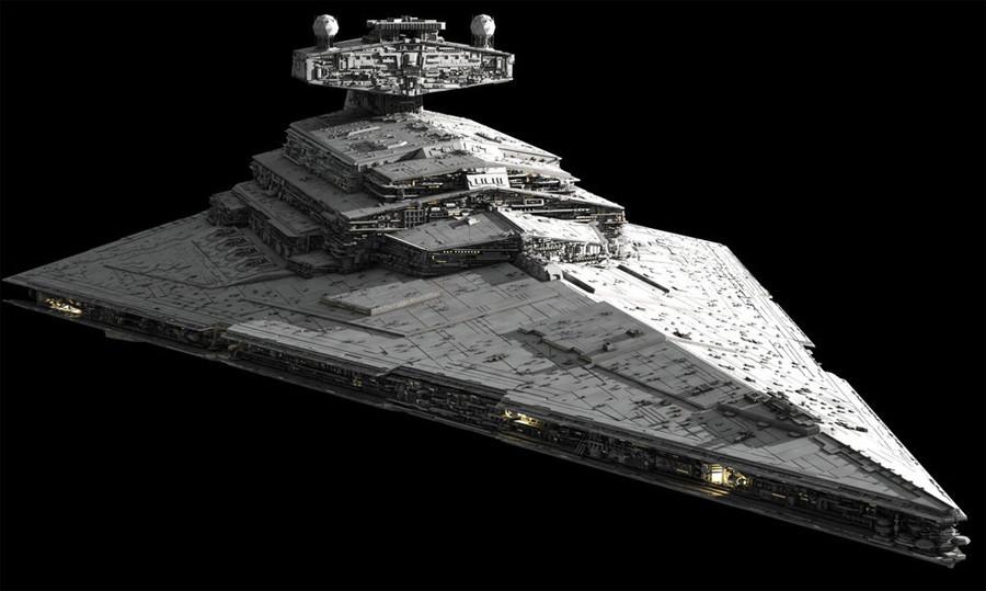 Hình ảnh mô phỏng tàu Star Destroyer trong bộ phim Star Was. Ảnh RT
