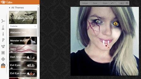 PicMonkey là một ứng dụng hay để chỉnh sửa ảnh có màu sắc kinh dị