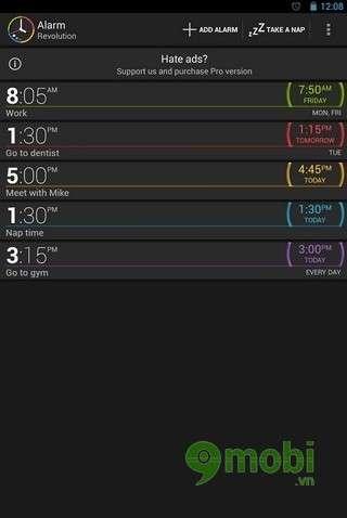 Alarm Revolution là một ứng dụng hay và độc đáo khi báo thức bằng giọng nói