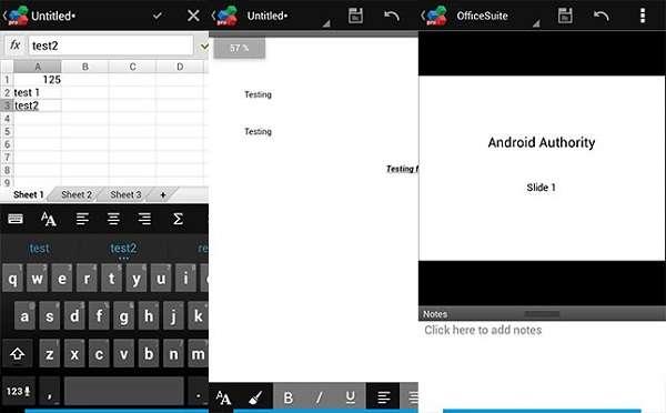 OfficeSuite Viewer là 1 ứng dụng ha cho nhu cầu duyệt xem văn bản cơ bản