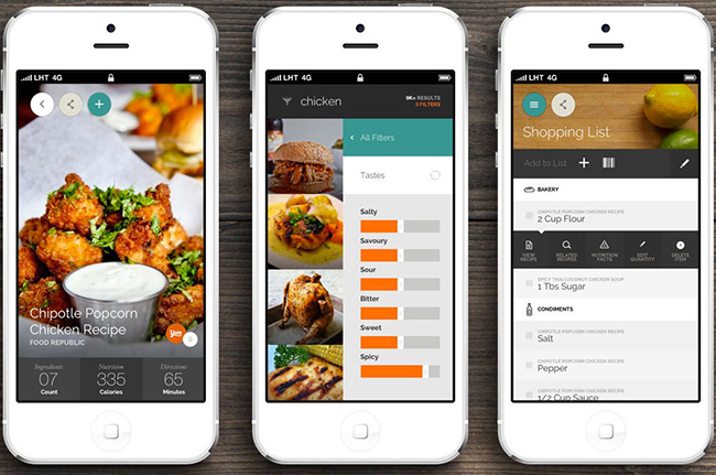 Yummly là 1 ứng dụng hay giúp lưu giữ những công thức nấu ăn riêng của mỗi người