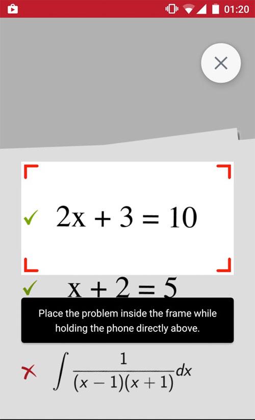 Ứng dụng hay PhotoMath sẽ giải quyết dễ dàng các phép toán