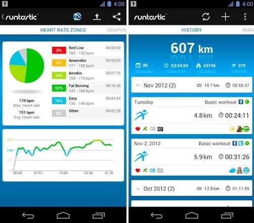 Runtastic Pro là 1 ứng dụng hay để hỗ trợ chăm sóc sức khỏe