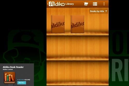 Aldiko Book Reader cũng góp mặt trong những ứng dụng hay cho nhu cầu đọc ebook