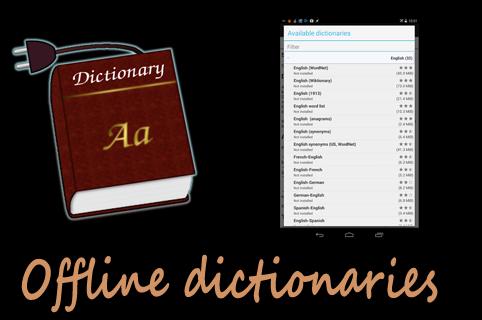Ứng dụng hay Offline Dictionaries giúp tra từ điển mà không cần kết nối mạng
