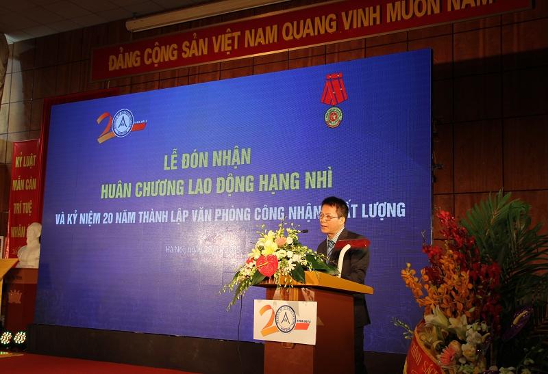 Ông Vũ Xuân Thủy - Giám đốc BoA báo cáo những kết quả đạt được của BoA trong 20 năm qua