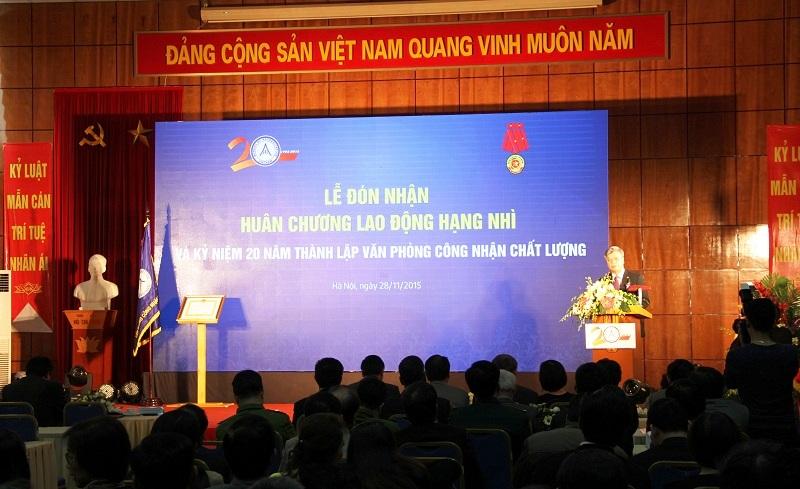 Quang cảnh buổi lễ Đón nhận Huân chương Lao động hạng Nhì và kỷ niệm 20 năm thành lập BoA