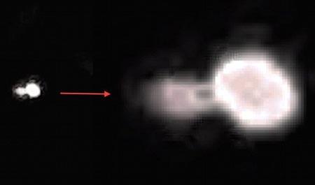 Hình ảnh phóng to của UFO bí ẩn