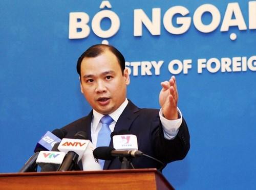 Người phát ngôn Bộ Ngoại giao Lê Hải Bình nêu rõ quan điểm của Việt Nam về đạo luật S-219 sai trái