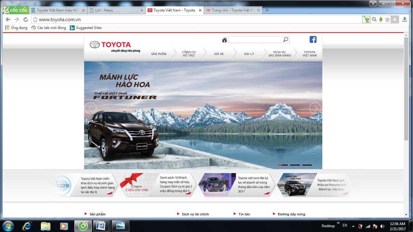 Trụ sở nhà máy Toyota ở tỉnh Vĩnh Phúc. Ảnh: Toyota Việt Nam
