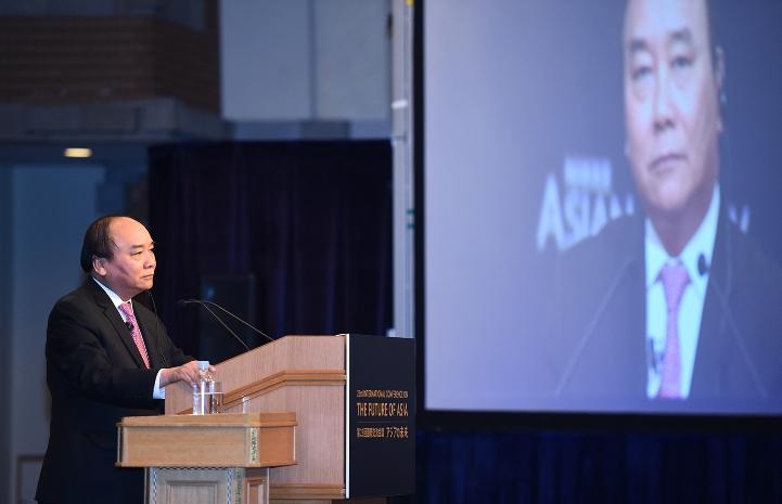 Thủ tướng Nguyễn Xuân Phúc đã dự và phát biểu tại phiên khai mạc Hội nghị Tương lai châu Á lần thứ 23.