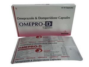 Thuốc viên nang Omepro (Omeprazole Capsules I.P. 20mg) do Công ty Maiden Pharmaceuticals Limited (Ấn Độ) sản xuất. (Nguồn: tradeindia.com)