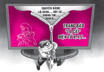 Một lãnh đạo Bộ Thông tin Truyền thông cho rằng, Việt Nam không có báo lá cải. Tuy nhiên, nhiều nhà báo lại khẳng định, việc có hay không là do thực tế quyết định, không phải do vị lãnh đạo đó phát biểu. Ảnh: pháp luật Việt Nam