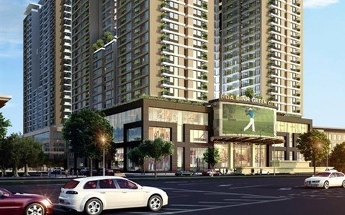 Phối cảnh dự án Hòa Binh Green City tại 505 Minh Khai, Hà Nội.