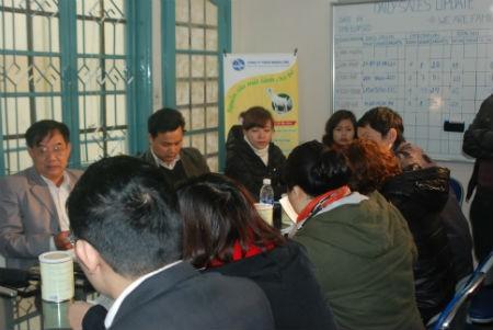 Buổi làm việc giữa công ty Mạnh Cầm và PV Chất lượng Việt Nam.