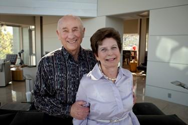 Tỷ phú Meyer Luskin và vợ