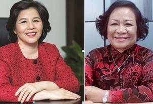 Bà Mai Kiều Liên, Chủ tịch hội đồng quản trị kiêm TGĐ Công ty cổ phần Sữa VN (Vinamilk), và bà Phạm Thị Việt Nga, Chủ tịch hội đồng quản trị Công ty cổ phần Dược Hậu Giang (DHG) vừa vào danh sách 50 nữ doanh nhân châu Á quyền lực nhất do tạp chí Forbes bình chọn.