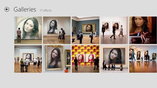 hình Photofunia với chủ điểm Galleries