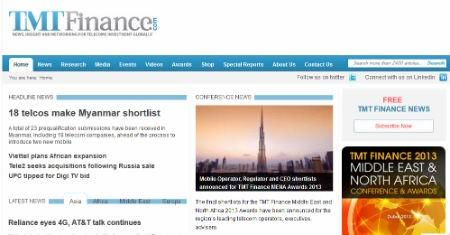 TMT Finance là trang tin tức hàng đầu về đầu tư viễn thông trên toàn cầu.