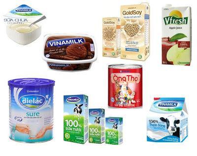 Những nhãn hàng thế mạnh của Vinamilk. Ản. N. N