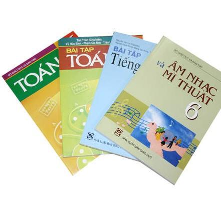 Nhiều cuốn sách không phải SGK cũng được giới thiệu đến phụ huynh để mua.