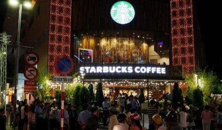 Quán cà phê Starbucks đầu tiên tại TP.HCM