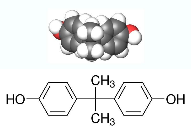Cấu trúc hóa học của hóa chất BPA