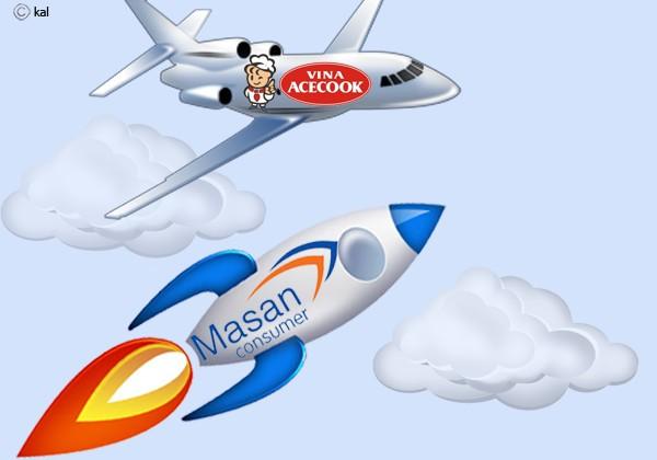 Trong khi thị phần của Acecook hầu nhưng không đổi thì thị phần của Masan tăng mạnh mẽ