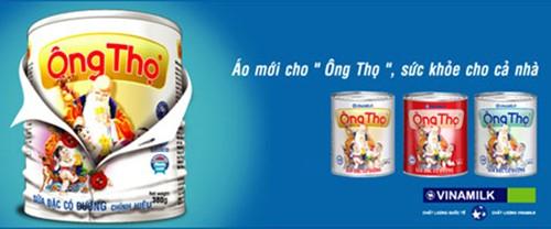 Nhãn hiệu sữa đặc có đường của Vinamilk lọt vào top 10 là Ông Thọ. Ảnh: N. N