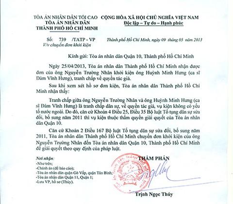 Đàm Vĩnh Hưng bị kiện vì ăn cắp ca khúc