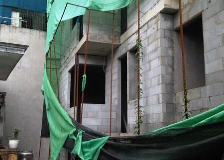 Công trình sai phép tại số nhà 46E ngõ 256 Đê La Thành, quận Đống Đa