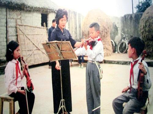 Lớp học nhạc thời chiến tranh.