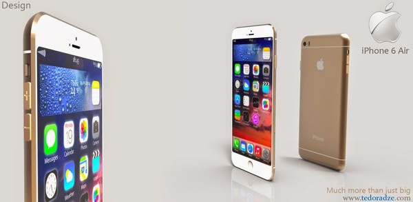 thiết kế iphone 6 air siêu mỏng đẹp mắt