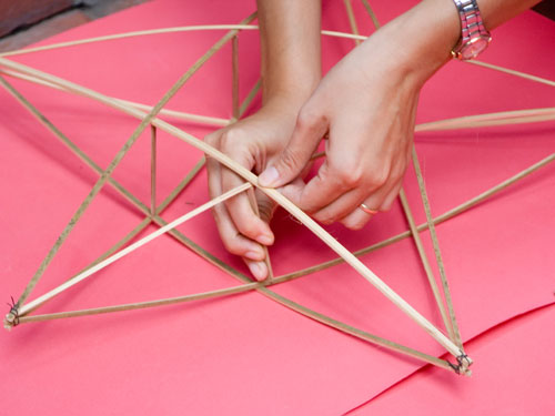 Dựng các điểm giao nhau giữa 2 ông sao với nhau, tạo thành khung sao 3D. Ảnh minh họa