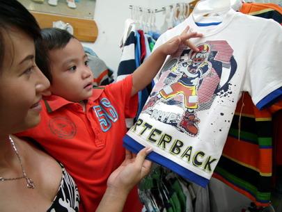 Cơ quan quản lý chất lượng sản phẩm hàng hóa Trung Quốc khuyến cáo người tiêu dùng nên thận trọng khi mua quần áo cho trẻ