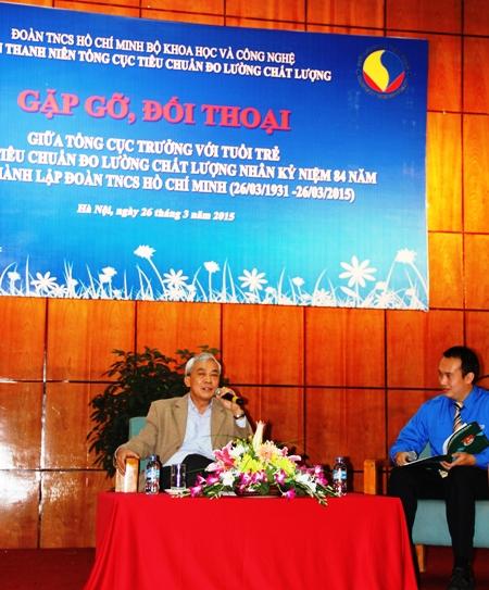 Tổng cục trưởng Ngô Quý Việt đối thoại với thanh niên