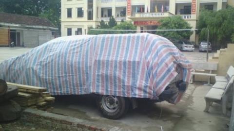 Chiếc xe gây tai nạn thương tâm đang bị giữ tại cơ quan công an